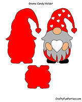 Gnome Candy Holder Red PDF