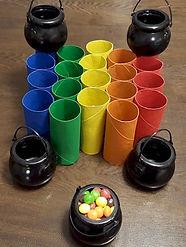 Skittles Toss Toilet Paper Roll Game Rainbow