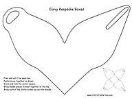 Curvy Keepsake Box Pattern
