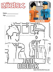 RoBlox Jail Break Coloring Page