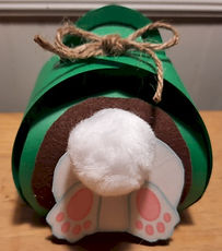 Curvy Keepsake Box Bunny Behind