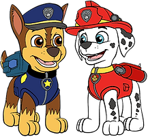 Chase and Marshall Clipart 1 png