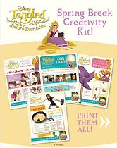 Tangled Spring Break Creativity Pages