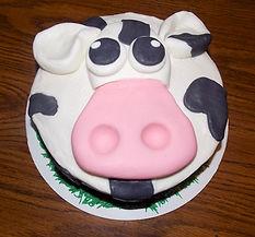Fondant Cow Cake