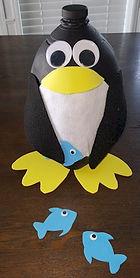 Penguin Valentine Holder