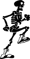 Running Skeleton FREE SVG and PNG
