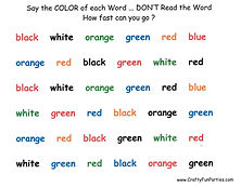 Say The Color Of The Word