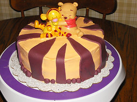 Winnie the Pooh and Tigger Cake