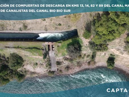 Etapa 2 del Proyecto de Automatización de Compuertas de Descarga del Canal Matriz Bío Bío Sur