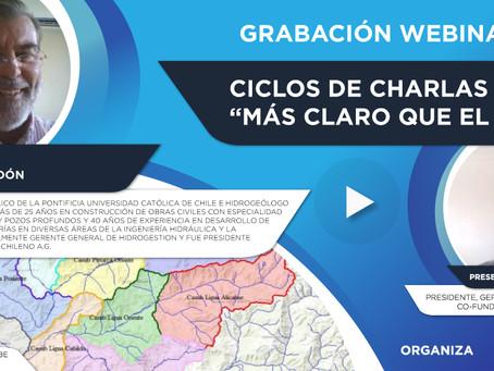 """Grabación Webinar """"Ciclo Más Claro que el Agua"""" Nº2 - Eugenio Celedón"""