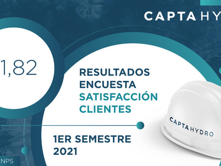 Resultados Primera Encuesta de Satisfacción Clientes Capta Hydro - 1er Semestre 2021