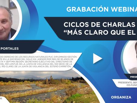 """Grabación Webinar """"Ciclo Más Claro que el Agua"""" Nº3 - Diego Castro"""