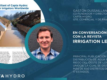 """Entrevista en """"Irrigation Leader Magazine"""" - Julio/Agosto 2021"""