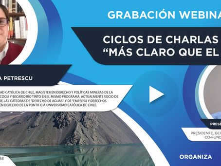 """Grabación Webinar """"Ciclo Más Claro que el Agua"""" Nº4 - Carlos Ciappa"""