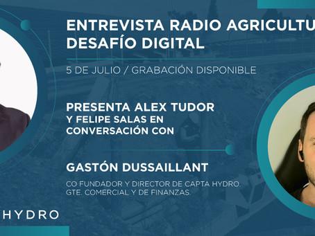 Entrevista en Programa Desafío Digital de la Radio Agricultura - Julio 2021