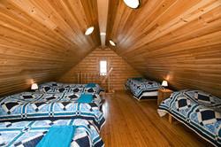 Sleeping loft upstairs