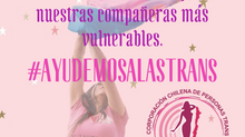 Amanda Jofré lanza campaña #AyudemosALasTrans