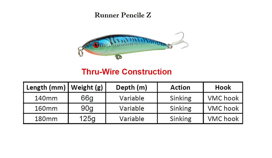 Ray Runner Pencil Lure