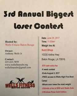 Who's going to be that 2017 winner_ #3rdAnnualBiggestLoserChallenge #WellsFitnessBR #WhereDreamsDoCo