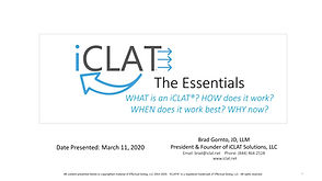 CoverSlide-iCLAT-Webcast.Essentials3.11.