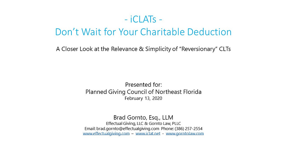 10th Annual Planned Giving Symposium