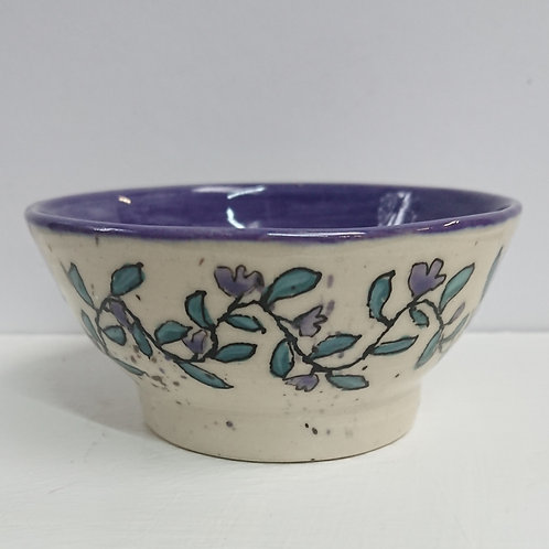 BOWL - PAINTED LEAVES  (024)