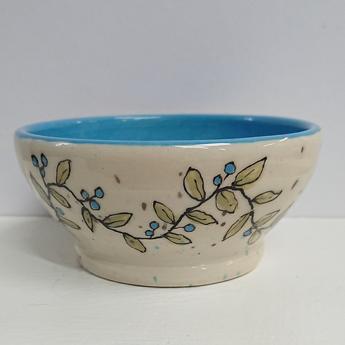 BOWL - PAINTED LEAVES  (025)