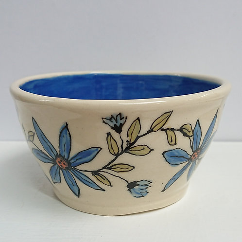 BLUE DAISY BOWL   (012)