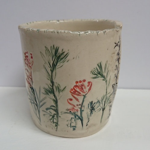 CUP -PRESSED PLANTS   (008)
