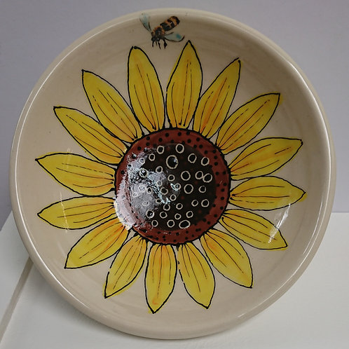 BOWL - SUNFLOWER & BEE  (038)