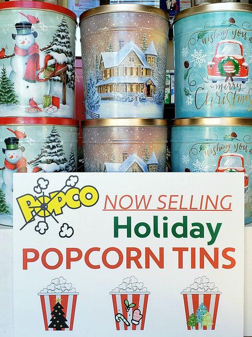 Holiday Popcorn Tin