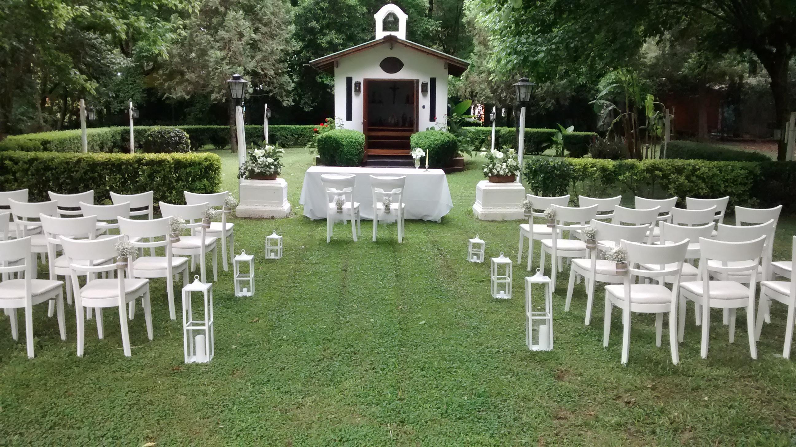 Finca Irigoyen Capilla Ceremonia en el Parque