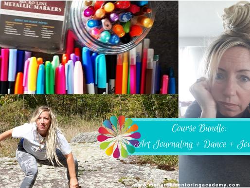 Course Bundle: Dealing With Difficult Feelings (Art Journal+Dance+Journal)