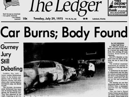 """11. """"Car Burns; Body Found."""""""