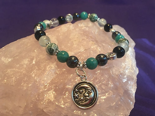"""Help with Mercury Retrograde"" Crystal Energy/Healing Bracelet"
