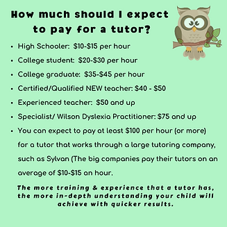 How much should I expect to pay a tutor.