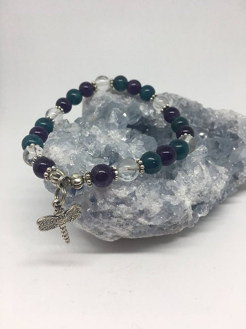 """""""Help with your Weight Loss Journey"""" Crystal Energy/Healing Bracelet"""
