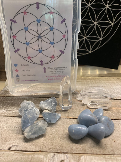 Connecting with YOUR Angels Crystal Grid