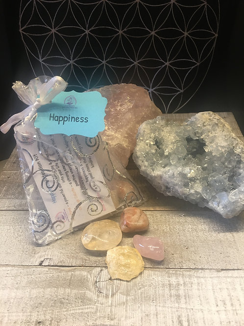 """Happiness"" Crystal Intention KIt"