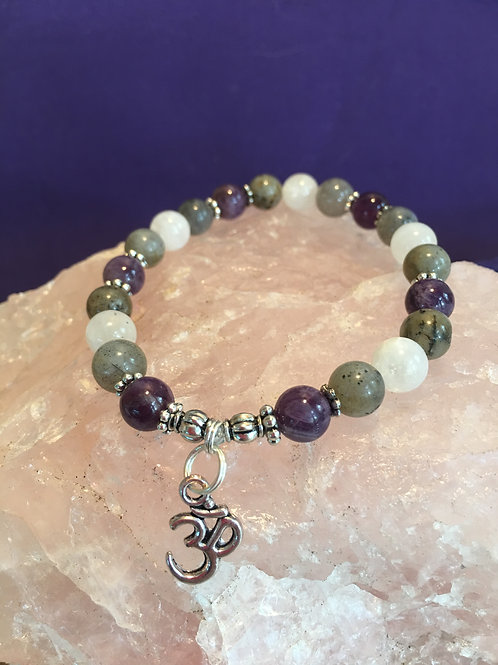 """Be the BEST you can be!"" Crystal Energy/Healing Bracelet"