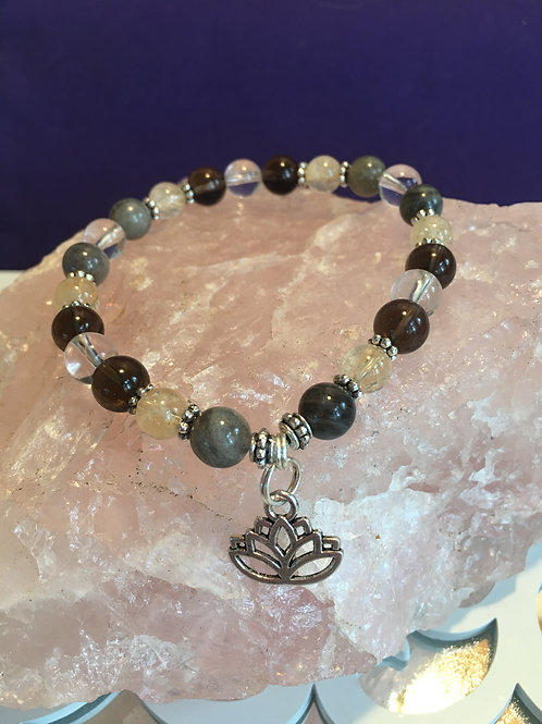 """Letting it ALL GO!!"" Crystal Energy/Healing Bracelet"