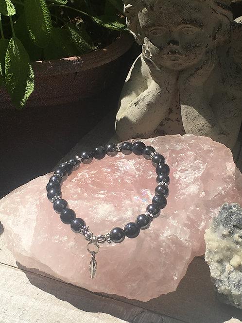 """""""Men's Grounding"""" Crystal Energy/Healing Bracelet"""
