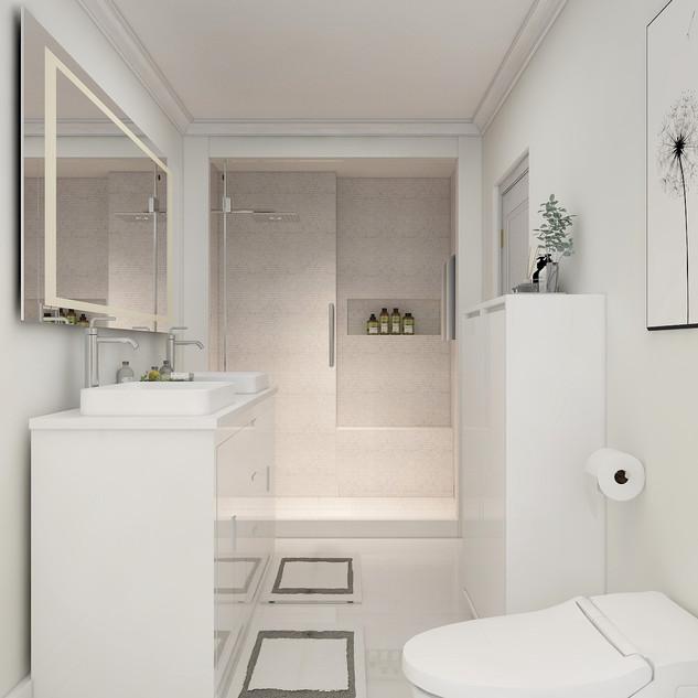 Master Bathroom Shower Area, Chicago IL