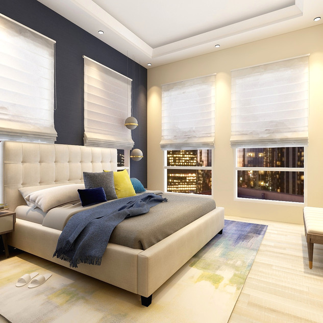 Modern Apartment | Master Bedroom