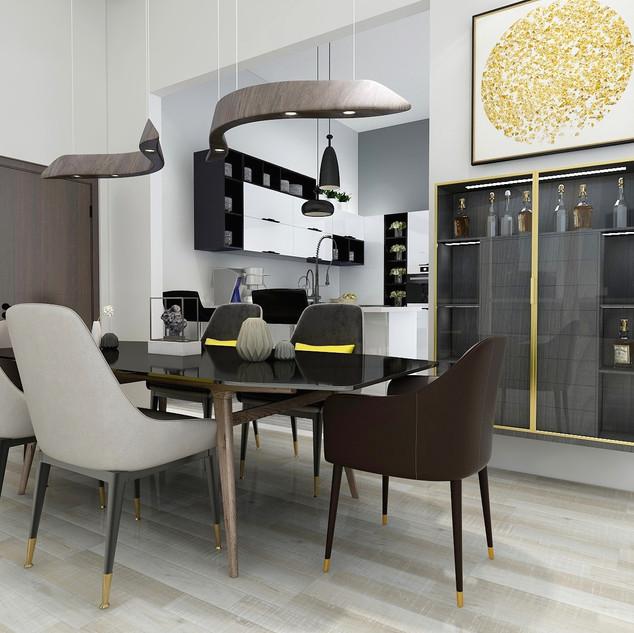 Modern Apartment   Dining
