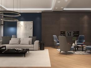 Calming Living & Luxury Social Space