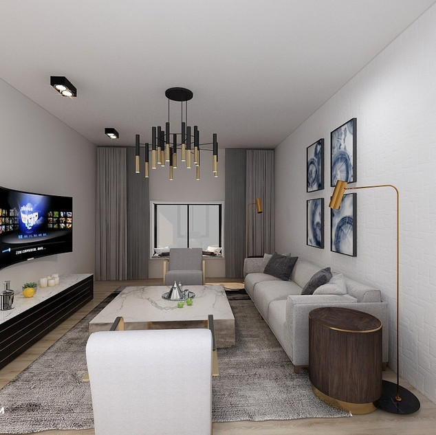 Hong Kong Luxury Apartment   Living Room