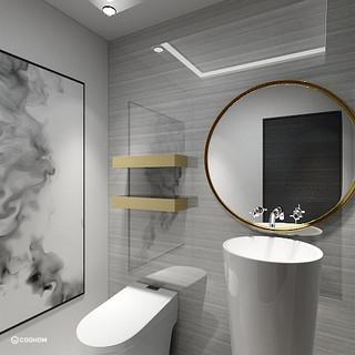 Hong Kong Luxury Apartment | Powder Room
