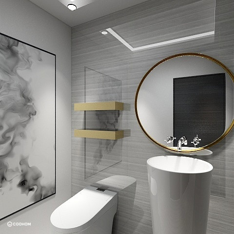 Hong Kong Luxury Apartment   Powder Room