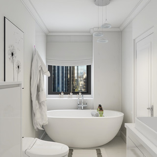 Master Bathroom Tub Area, Chicago IL